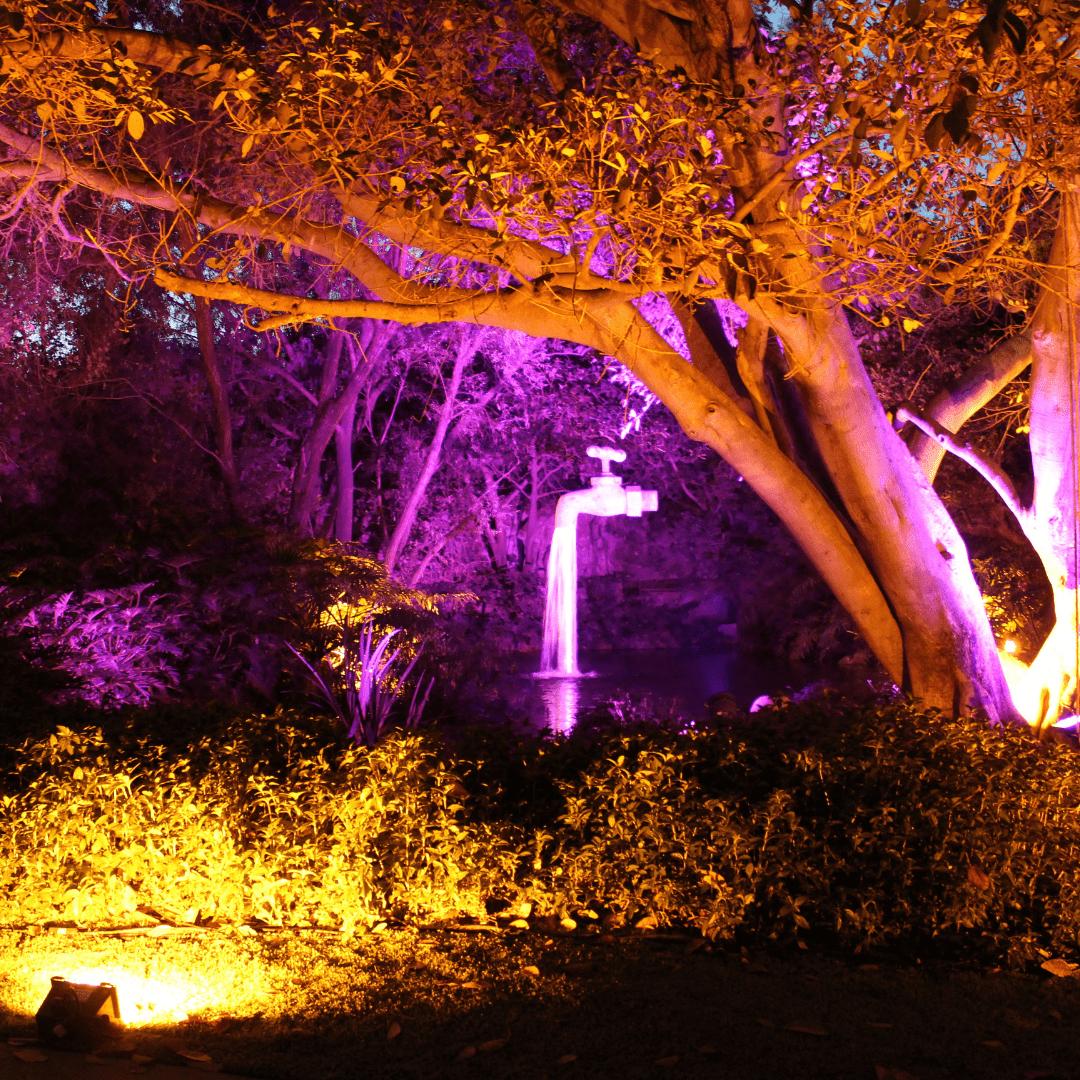 Iluminación ámbar y colores LarAudio