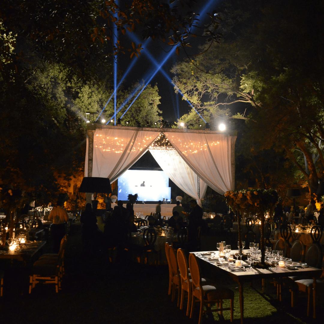 Soporte entelado para boda en La Floresta por LarAudio